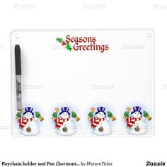 25% OFF ALL ORDERS - Zazzle's Friends & Family Sale!     Ends Tomorrow!     Use Code: ZFRIENDSNFAM Keychain holder and Pen (horizontal)/Snowmen Dry Erase Boards
