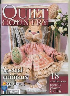 2 stuffed rabbits and dolls - sept/oct 2008 Picasa Web Albums pattern pages Sewing Magazines, Country Quilts, Applique Fabric, Book Quilt, Sewing Toys, Soft Dolls, Christmas Cross, Stuffed Toys Patterns, Book Crafts