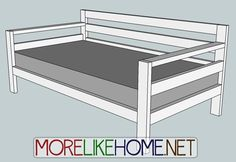 Build a Simple Modern Sofa out of 2x4s with MoreLikeHome.net.