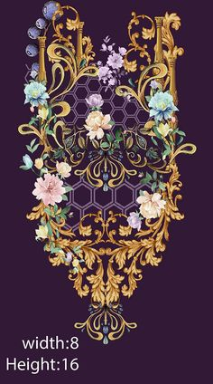 Embroidery designd on Behance Textile Prints, Textile Design, Sari Design, Textiles, Vintage Embroidery, Embroidery Patterns, Hand Embroidery, Photoshop Rendering, Adobe Photoshop
