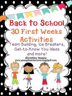 Back to School - 30 First Week of School Activities - Here are some great printable worksheets and activities for the first day of school. These will work perfect for with your and grade elementary students. Get To Know You Activities, First Day Of School Activities, 1st Day Of School, Beginning Of The School Year, Elementary Music, Elementary Schools, Upper Elementary, Introduction Activities, Back To School Worksheets