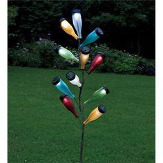Metal Bottle Tree Sculpture & Bottles | Yard | Plow & Hearth