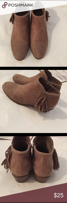 Charlotte Russe booties Worn once. Great shape no signs of wear Charlotte Russe Shoes Ankle Boots & Booties