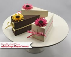 Splotch Design - Jacquii McLeay - Stampin Up - Flower Cake Boxes