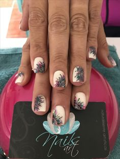 Acrylic nails, nails art, mandala nails