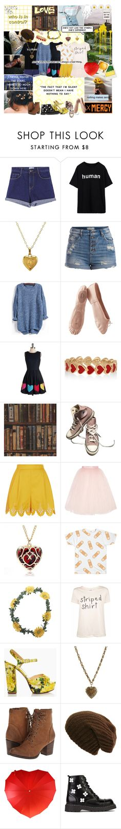 """""""Frisk (Undertale)"""" by smol-snowflake ❤ liked on Polyvore featuring Lord & Taylor, Pieces, Porselli, Nishe, Alison Lou, Andrew Martin, Converse, Temperley London, Ballet Beautiful and Wet Seal"""