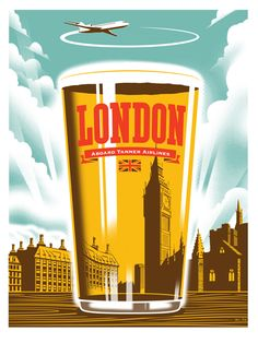 London...........Vintage Travel Poster