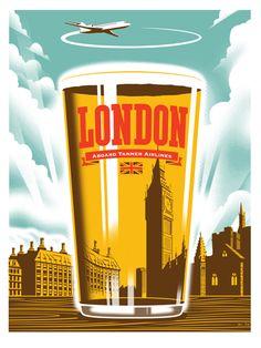 London...........Vintage Travel Poster