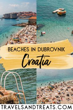 A Guide to Beaches in Dubrovnik, Croatia. Everything you need to know for your beach vacation to Dubrovnik, Croatia. Dubrovnik beach map, Dubrovnik beach hotels, and more! Croatia Travel Guide, Europe Travel Guide, Croatia Itinerary, Travel Tips, Zagreb Croatia, Travel Ideas, Backpacking Europe, Travel Destinations Beach, Travel