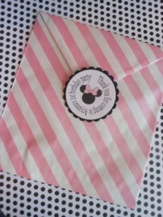 Birthday Goody Bags In Light Pink with Minnie by ASweetCelebration, $15.00