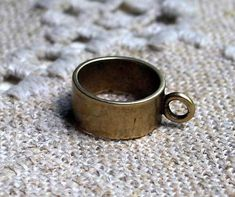 Bead Antiqued Brass 9.5x5.5mm Smooth Round by SBBeadsAndCrafts, $2.45