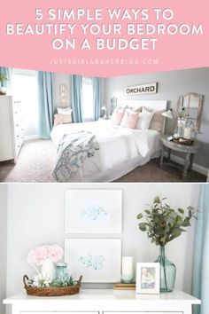 French Home Decor These simple budget bedroom updates will take your space from blah to beautiful and give you the cozy haven you've always wanted! Bedroom Updates, Home Decor Accessories, Affordable Bedroom, Cheap Apartment Decorating, Affordable Bedroom Decor, Budget Bedroom, Cheap Home Decor, Home Decor, House Interior
