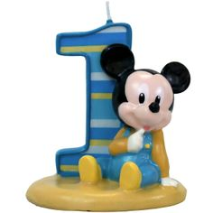 Baby Mickey Mouse 1st Birthday | Mickey's First Birthday Cake Candle Wholesale Party Supplies and Bulk ...