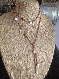 Circle Strand Necklace w/ Freshwater Pearls by loveFabulousFinds, $48.00