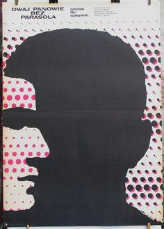 Polish original poster for the Romanian (1969) film - The Likeable Mister R. Author: Mieczyslaw Wasilewski (1970)