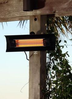Quickly warms your deck or patio with a 9' blanket of heat, even in windy conditions.