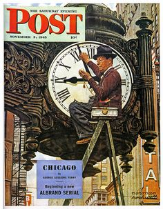 1945- Clock Repairman - By Norman Rockwell by x-ray delta one, via Flickr