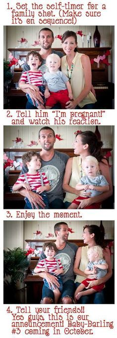 This is cute! pregnancy announcement (I'm not pregnant, this is for the future)