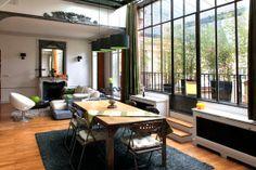 Parisian loft featuring New York-inspired decor