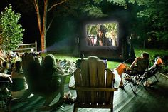Outdoor Movie Night-i'd love to be able to do this one day!!