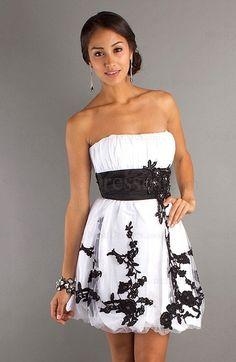 Modest Zipper Sleeveless Tulle Appliques Short Homecoming Dress -US$162.49 - ninedresses.com
