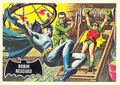 1966 Batman Black Bat Card No.38 Robin Rescued   Flickr - Photo Sharing!