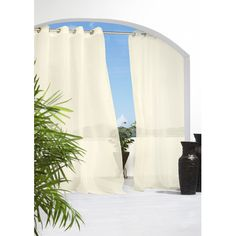 Found it at Wayfair - Outdoor Décor Escape Grommet Single Curtain Panel http://www.wayfair.com/daily-sales/p/Curtains%2C-Blinds-%26-Hardware-Outdoor-D%C3%A9cor-Escape-Grommet-Single-Curtain-Panel~CXF1041~E21678.html?refid=SBP.rBAjD1VeBBdnWVmEsaxtAgsCHLsFSE4hqqUiH_AYfRw