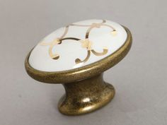 42.30$ (More info here: http://www.daitingtoday.com/ceramic-cabinet-knobs-antique-brass-oval-dresser-drawer-knobs-pulls-handles-white-gold-french-furniture-knob-pull-handle ) Ceramic Cabinet Knobs Antique Brass Oval / Dresser Drawer Knobs Pulls Handles White Gold / French Furniture Knob Pull Handle for just 42.30$