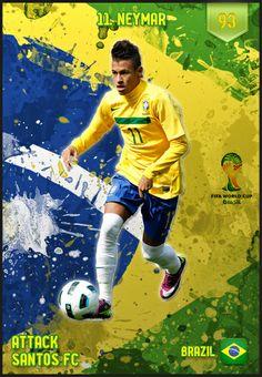 #Neymar Brazil FIFA World Cup 2014 Lineup