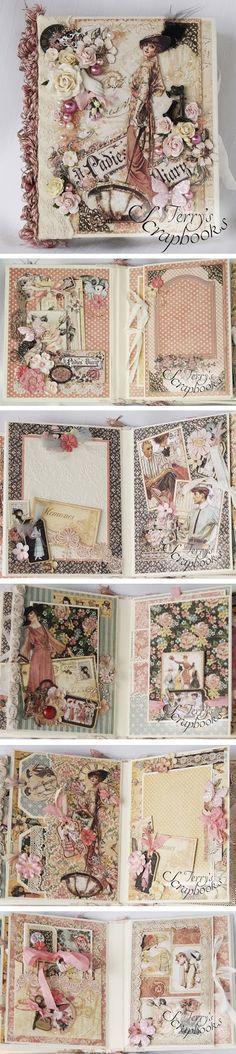 Terry's Scrapbooks: Graphic 45 Ladies Diary Min Album Reneabouquets De... More