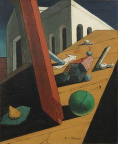 """The Evil Genius of a King Giorgio de Chirico Paris 1914-15. Oil on canvas, 24 x 19 3/4"""" (61 x 50.2 cm). Purchase. © 2012 Artists Rights Society (ARS), New York / SIAE, Rome"""