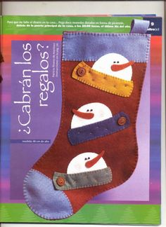 Revistas de Fieltro gratis: manualidades en fieltro para navidad