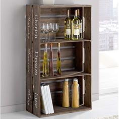 d i y crate wine case