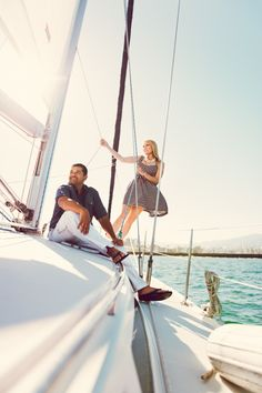 Sailing engagement shoot. Photography by chelseanicole.com