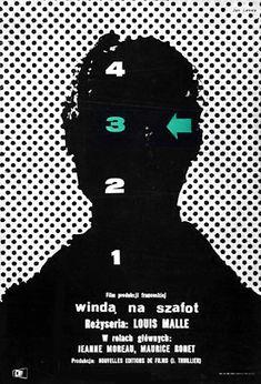 ASCENSEUR POUR L'ÉCHAFAUD de Louis Malle (1958) #poster #affiche #polonaise #polish #malle #pologne #poland  #french #film #france #francais