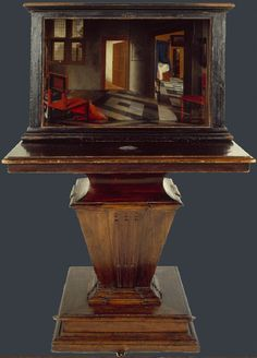 A Peepshow with Views of the Interior of a Dutch House,   about 1655-60, Samuel van Hoogstraten