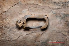 https://flic.kr/p/GDcp8R | Jens Ansø Danish Designer Carabiner V3 Bronze Patina. EDC Pocket Tool Multitool Bottle Opener. Anso Design.