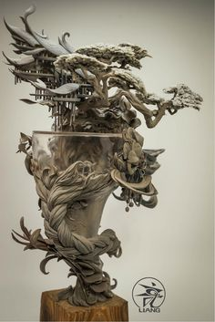 Yuanxing Liang - surreal clay sculptures