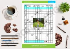 Unique Scandinavian type puzzle (clue-in-squares) with your picture and personal message to celebrate anniversary, wedding, birthday and other events. Unique gift, unique crossword, nanettodesign,
