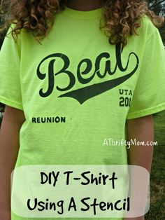 diy t-shirt using a