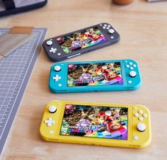 Welcome to the family, Nintendo Switch Lite! This console for gamers on-the-go is available now in three fab colours. Nintendo Lite, Nintendo Switch Games, Buy Nintendo, The Legend Of Zelda, Mario Kart 8, Luigi, Mundo Dos Games, Cool Tech Gadgets, Electronics Gadgets