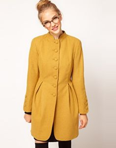 Enlarge ASOS Button Front Sculpted Coat. Love this