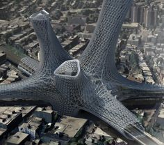 "Honorable Mention:""Urban Alloy Tower"" / Matt Bowles, Chad Kellog (US). Image Courtesy of eVolo"