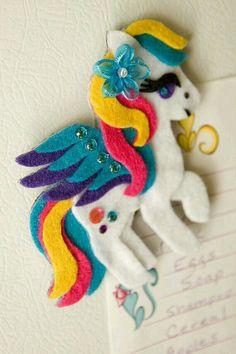 Pegasus My Little Pony Felt Magnet Custom Made For by DeerAshley Sewing Crafts, Sewing Projects, Felt Baby, Pony Party, Felt Patterns, Felt Toys, Felt Ornaments, Felt Animals, Felt Flowers