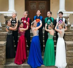People Are Loving These Teens And Their Perfectly-Coordinated Superhero Prom Outfits Prom Outfits, Homecoming Dresses, Cute Outfits, Bridesmaid Dresses, Wedding Dresses, Homecoming Themes, Bridesmaids, Prom Dresses For Teens, Teen Dresses