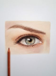 How to draw a realistic eye with colored pencils - Caran d'ache luminance and Faber Castell polychromos pencils. Watch the tutorial on my youtube channel /Emmykalia1