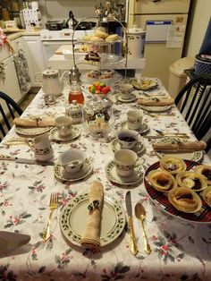 The full table for Christmas tea