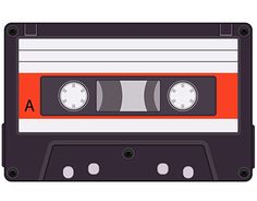 Realistic vector audio cassette, realistic vector audio cassette with transparency and icon of audio cassette