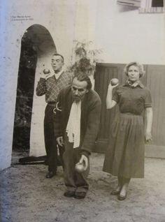 Céline, Colette, Marcel Aymé à Grosrouvre en 1955