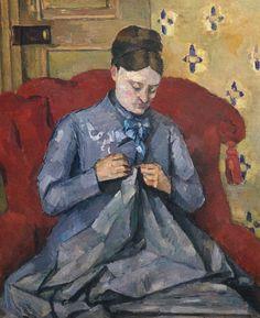 Paul Cézanne ~ Madame Cézanne Sewing, c.1877